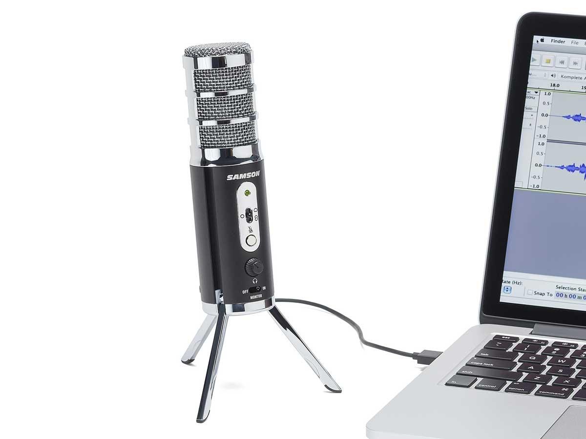 Microfone Condensador Samson Satellite USB