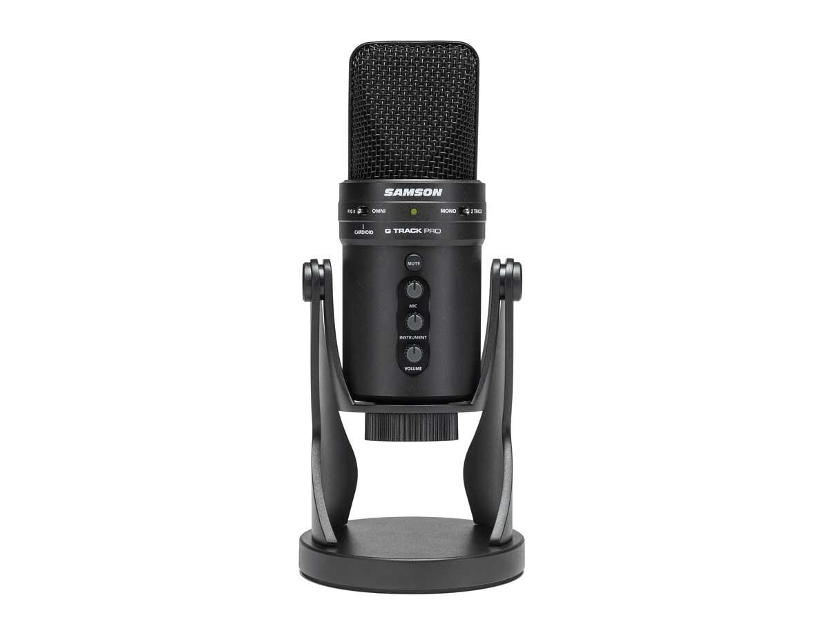 Microfone Condensador USB Samson G-Track Pro com Interface de Áudio