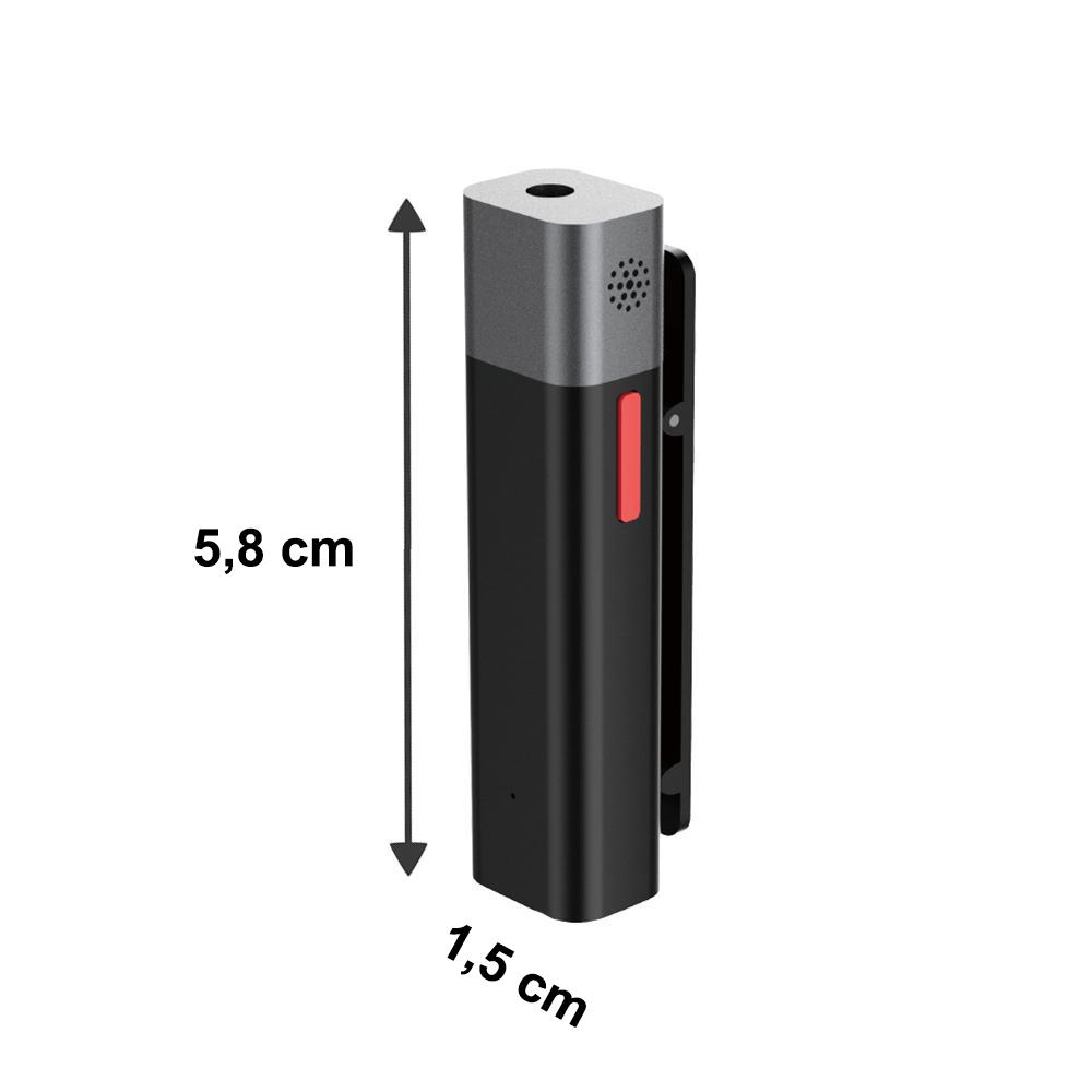 Microfone de Lapela Bluetooth sem fio Sabinetek SmartMike+