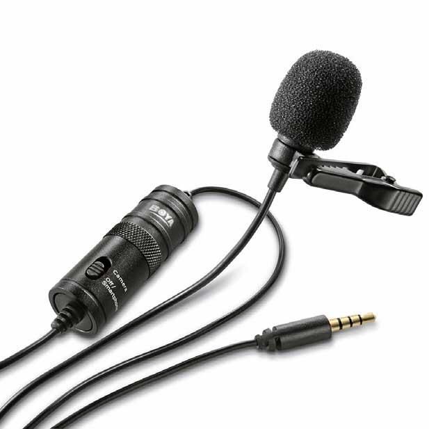 Microfone De Lapela Boya BY-M1 Para Câmera e Smartphones