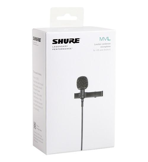 Microfone de Lapela  Shure MVL para smartphones Condensador Omnidirecional