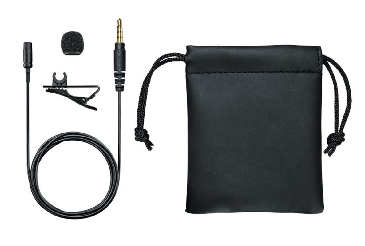 Microfone de Lapela  Shure MVL para smartphones Condensador Omnidirecional '