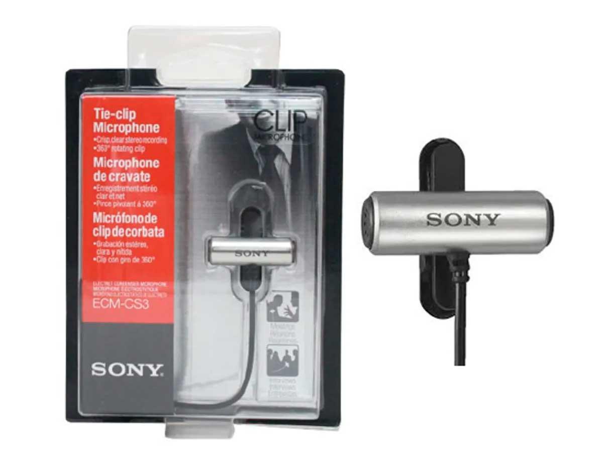 Microfone De Lapela Sony Ecm-cs3