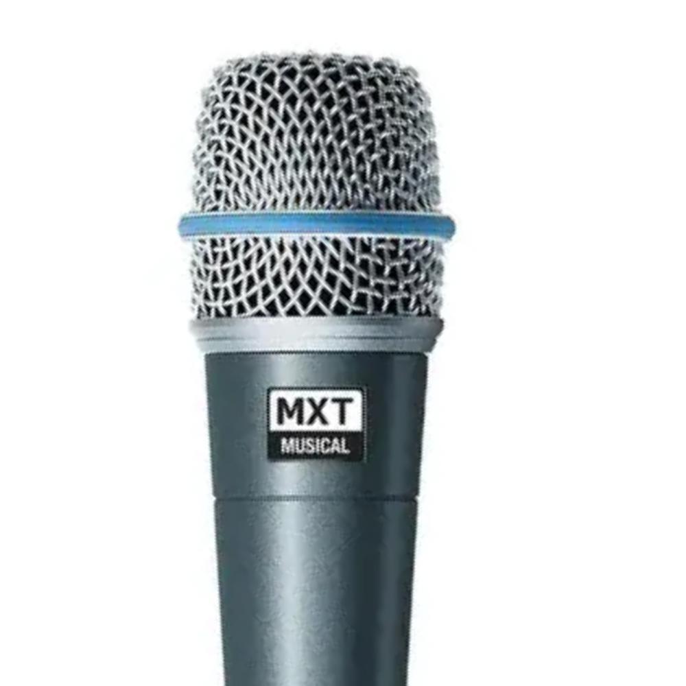 Microfone Dinâmico MXT Pro BTM-57A beta sm57 Com Cabo
