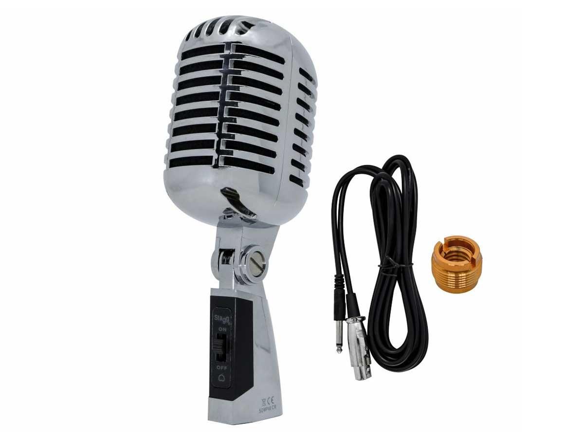 Microfone Dinâmico Vintage Stagg SDMP40 CR