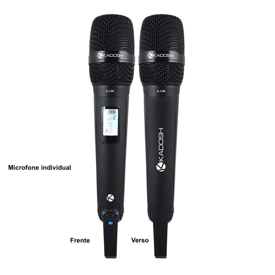 Microfone Kadosh Sem fio - KDSW 1201M