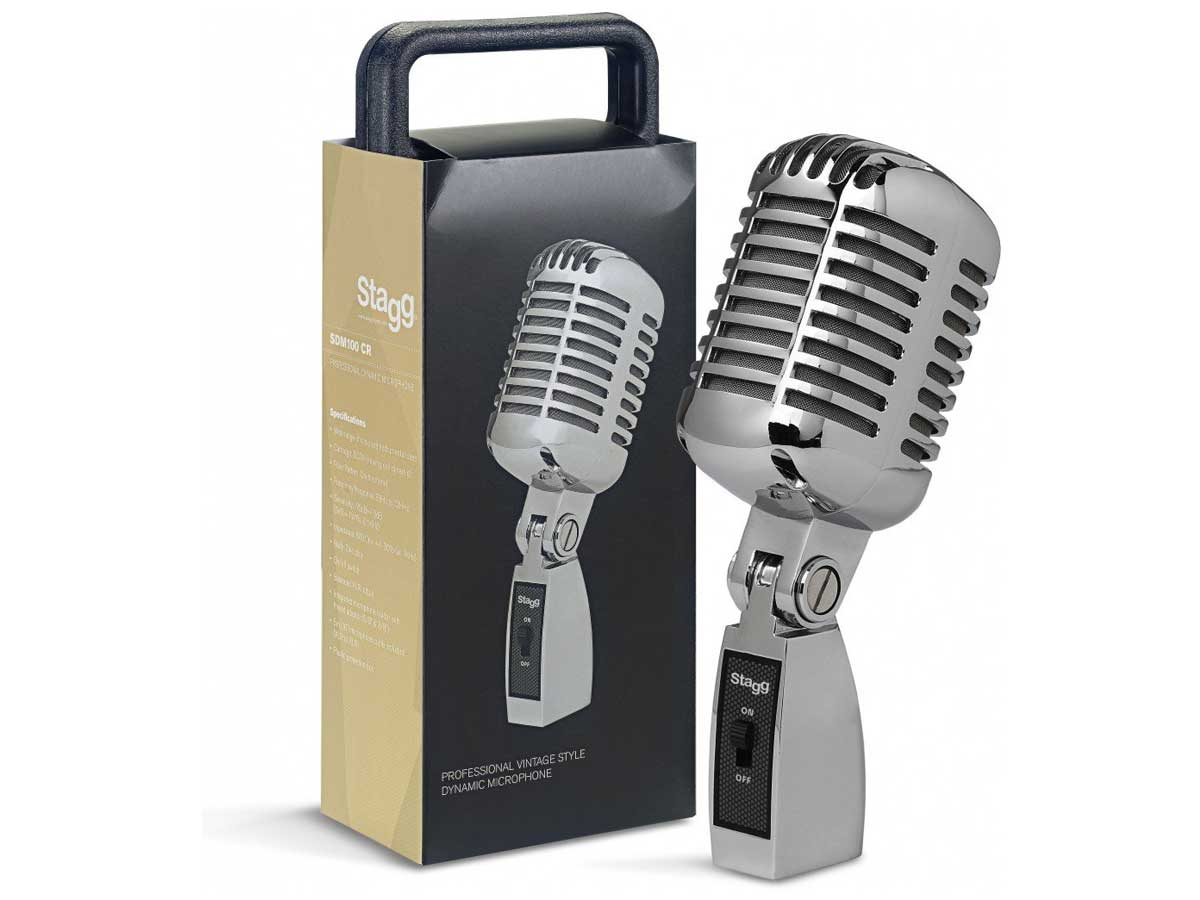 Microfone Profissional Vintage Stagg SDMP 100 CR