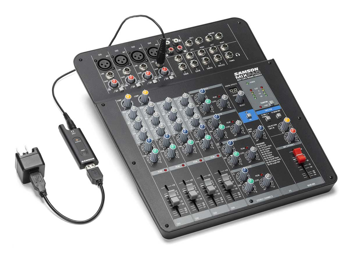 Microfone Sem Fio de Lapela USB Samson XPD2 Lavalier