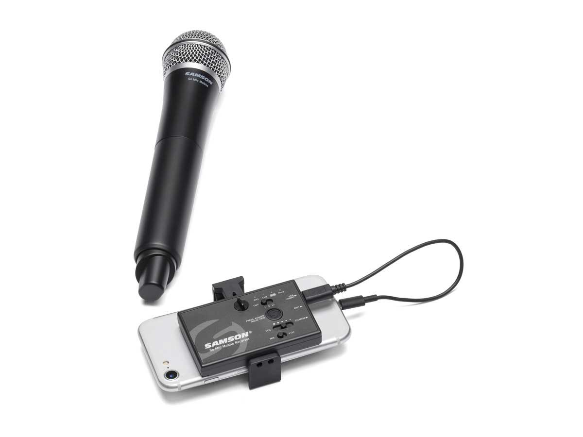 Microfone Sem Fio de Mão Samson Go Mic Mobile