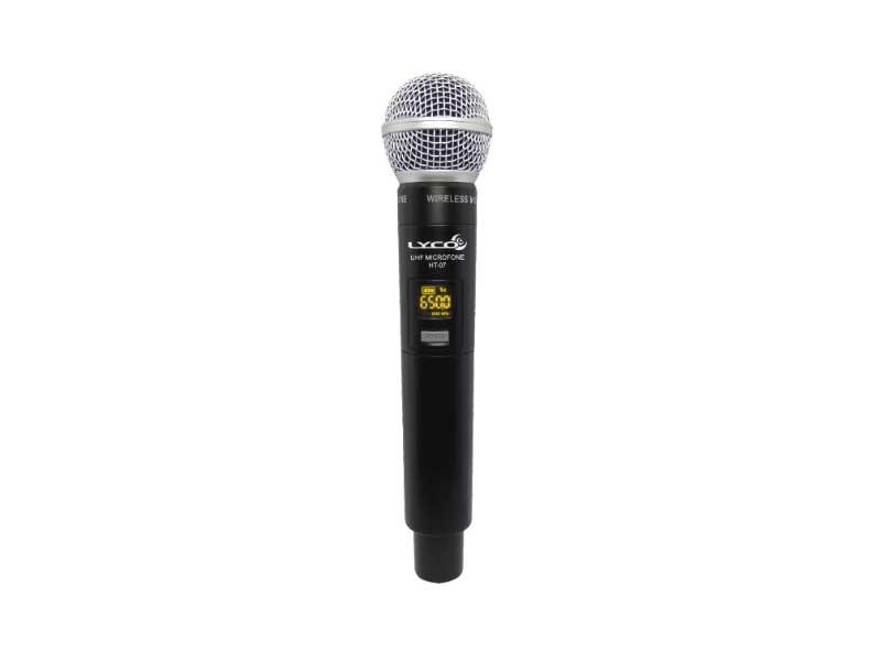 Microfone Sem Fio Duplo Lyco UH-08MHLI Mão Headset Lapela Instrumento