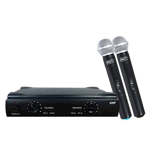 Microfone sem fio duplo MXT UHF - 302