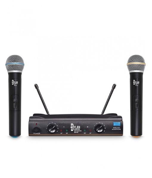 Microfone sem fio Duplo UHF ? Dylan DW-602