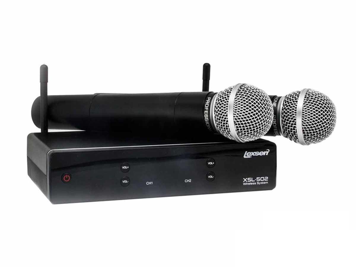 Microfone sem Fio Duplo UHF Lexsen XSL 502