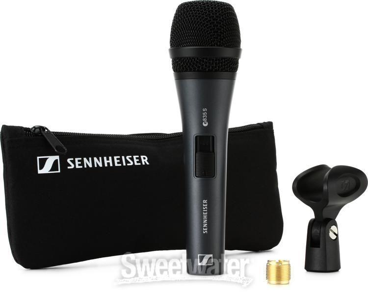 Microfone Sennheiser E835 S Com botão liga desliga