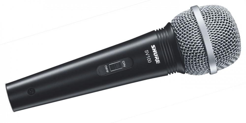 Microfone Shure SV100 + Cabo 4,5m