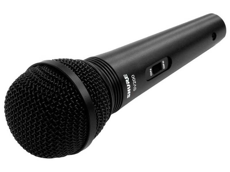 Microfone Shure SV200 + Cabo 4,5m