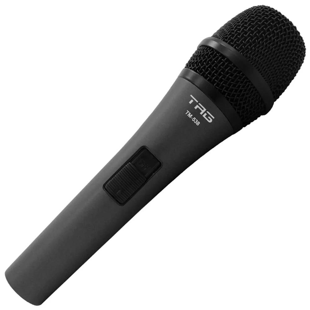 Microfone Tag Dinâmico Cardioide TM-538 Com Cabo