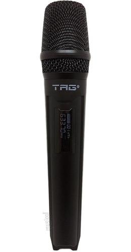 Microfone Tag Sem fio Transmissor UHF - TMJ-500