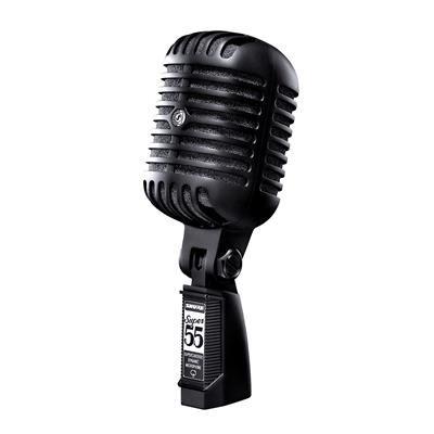 Microfone Vintage Shure Super 55 Preto - Edição Limitada