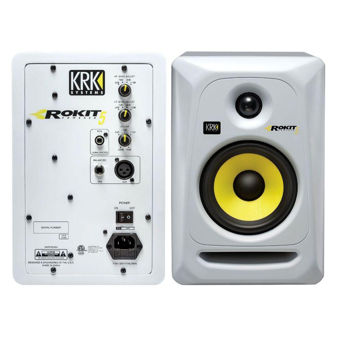Monitor de referência KRK Rokit RP5 - 3a Geração - 110v Branca - O PAR
