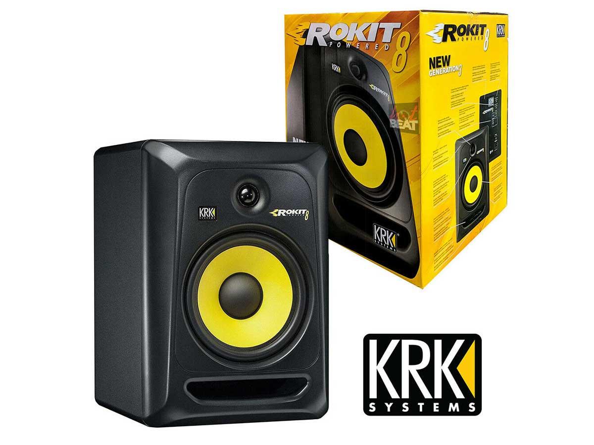 Monitor de referência KRK Rokit RP8 - 3a Geração - 110v - O PAR