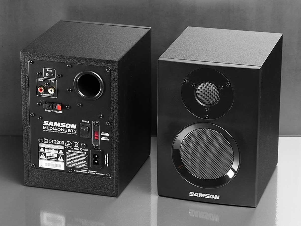Monitor de Referência Samson Mediaone BT3 com Bluetooth