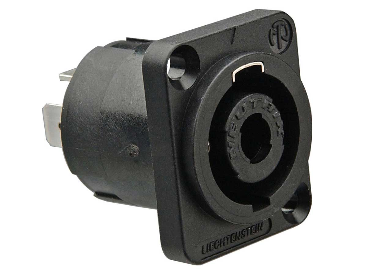 Neutrik - Plug Conector de Painel Speakon Fêmea De 4 Pólos NL4MP '