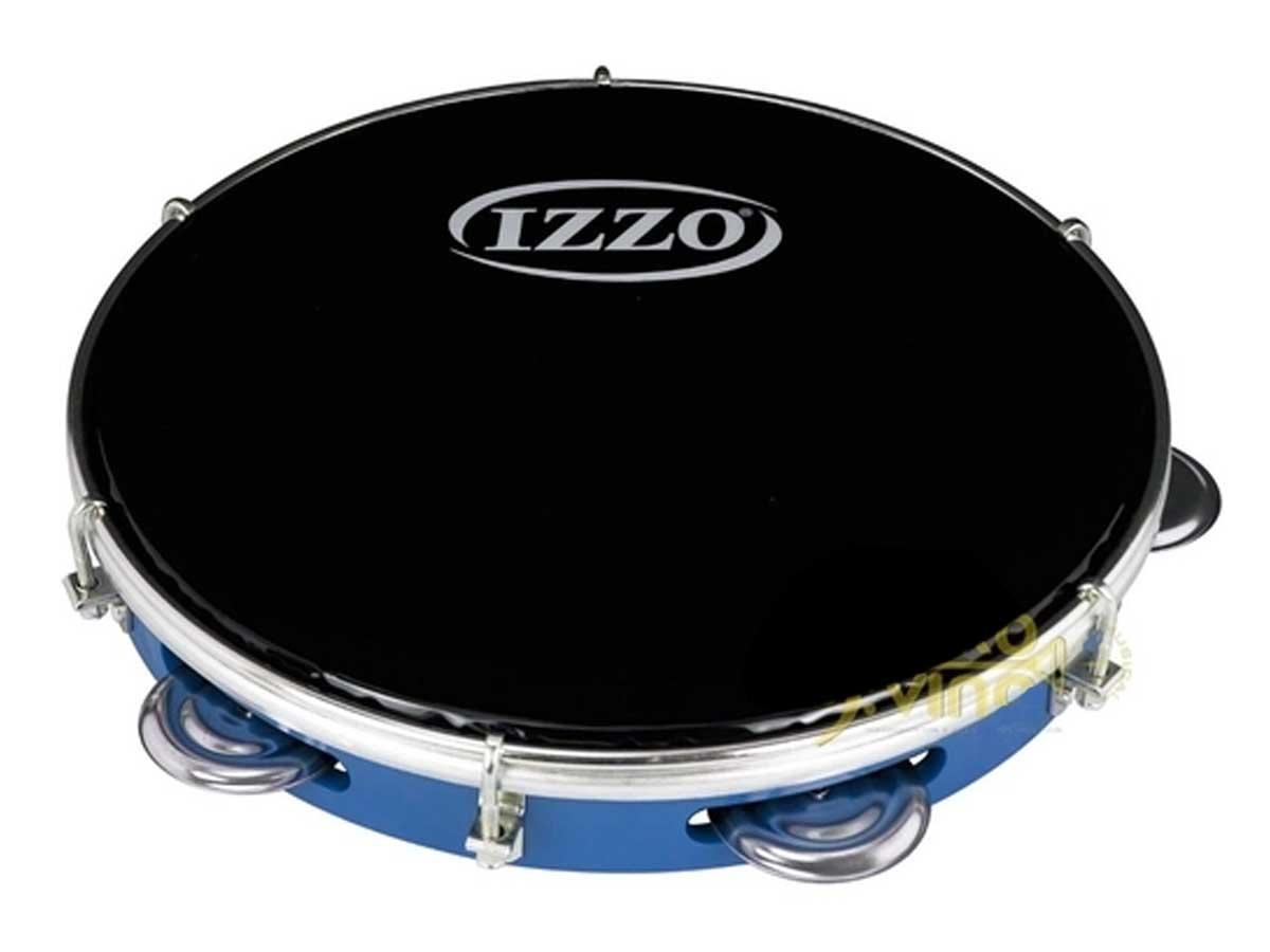 Pandeiro IZZO 10 Pol em ABS com Pele Preta