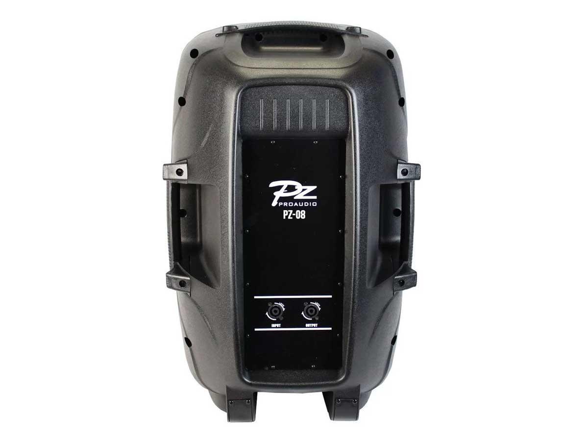 """Par de Caixa de Som Ativa/Passiva PZ Proaudio PX08 Bluetooth USB MP3 8"""" 80w"""