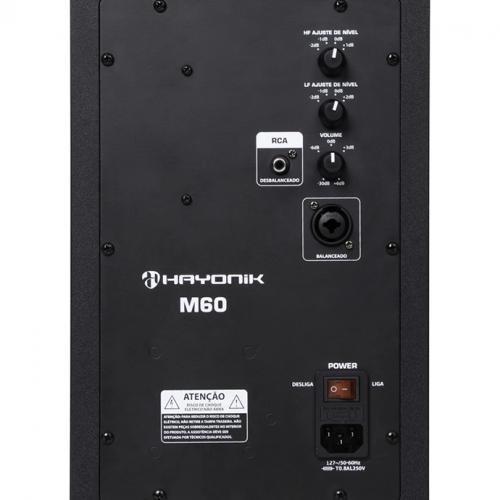 Par de Caixas de Monitor Ativa Hayonik M60 90W 127V
