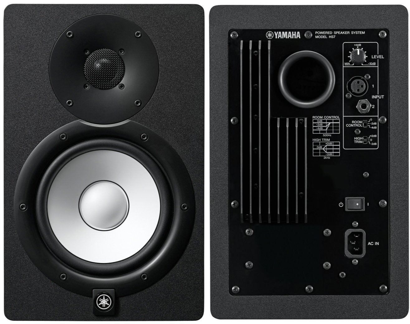 Par de Monitor de Referência para Estúdio Yamaha HS7 Preto