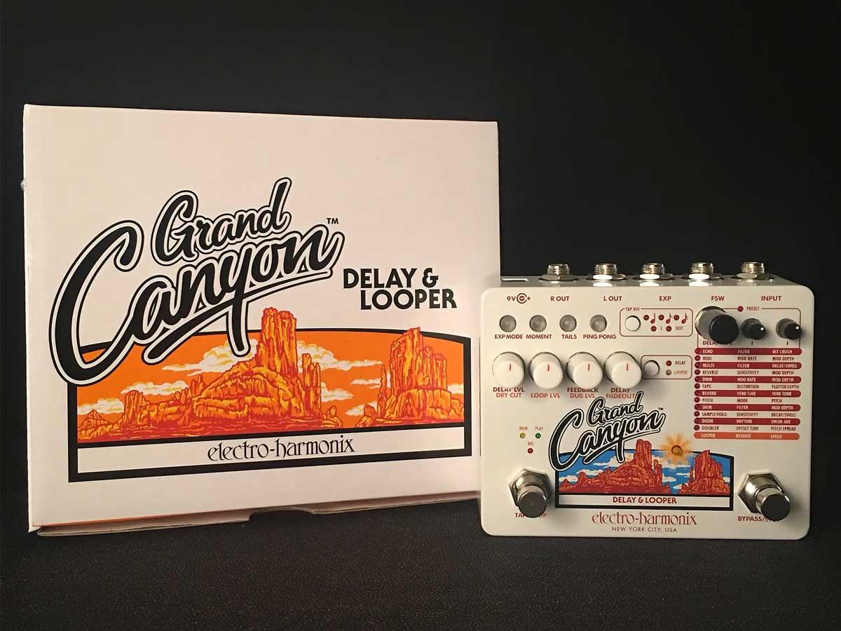 Pedal de Delay e Looper Electro Harmonix Grand Canyon