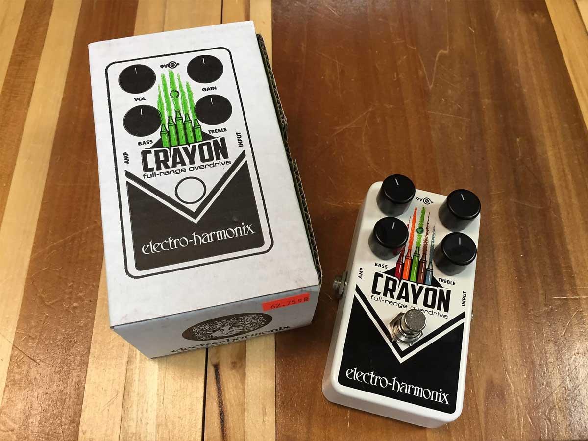 Pedal de Overdrive Electro Harmonix Crayon Full Range Overdrive