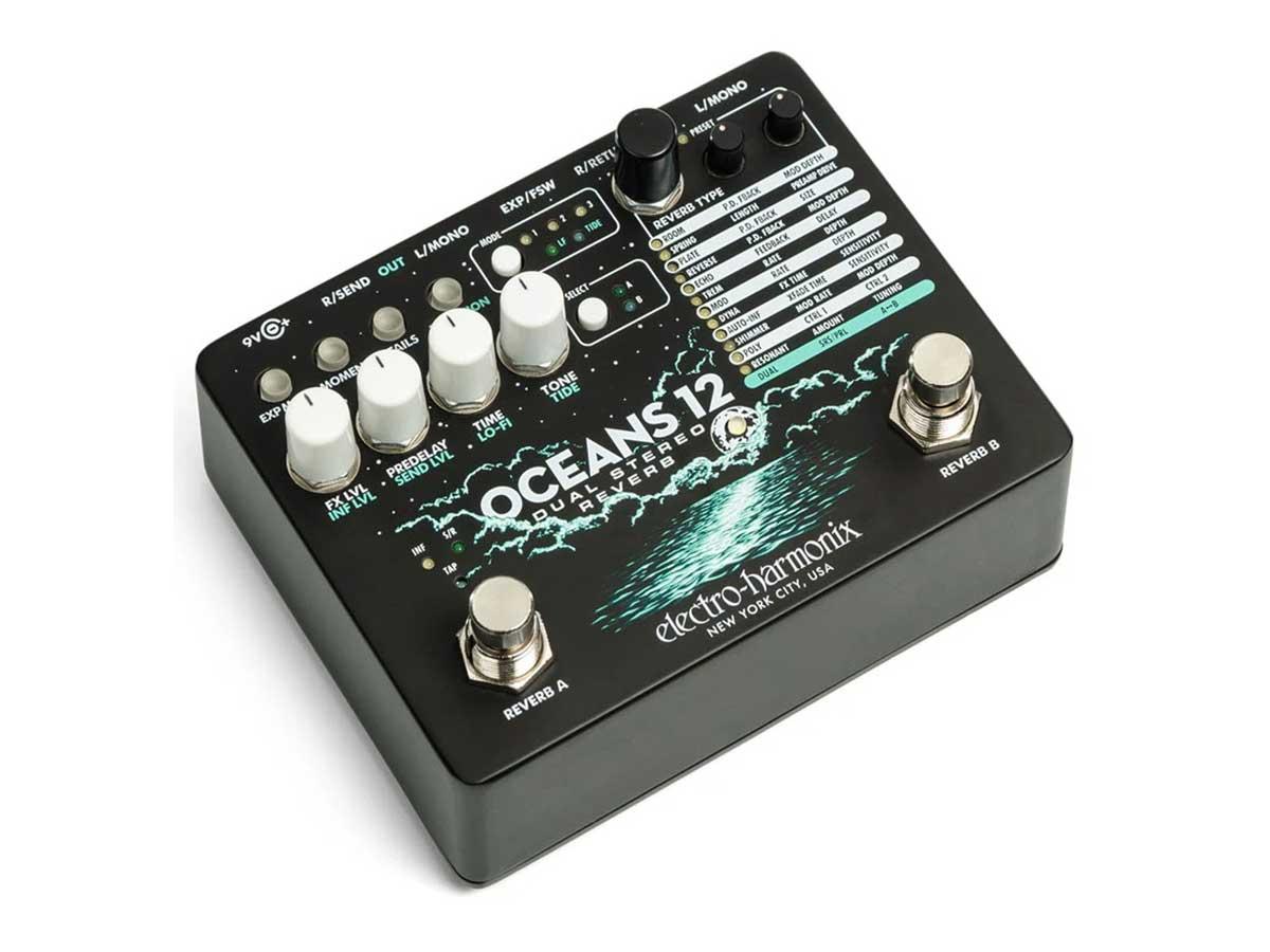 Pedal de Reverb Electro Harmonix Oceans 12 Dual Stereo Reverb