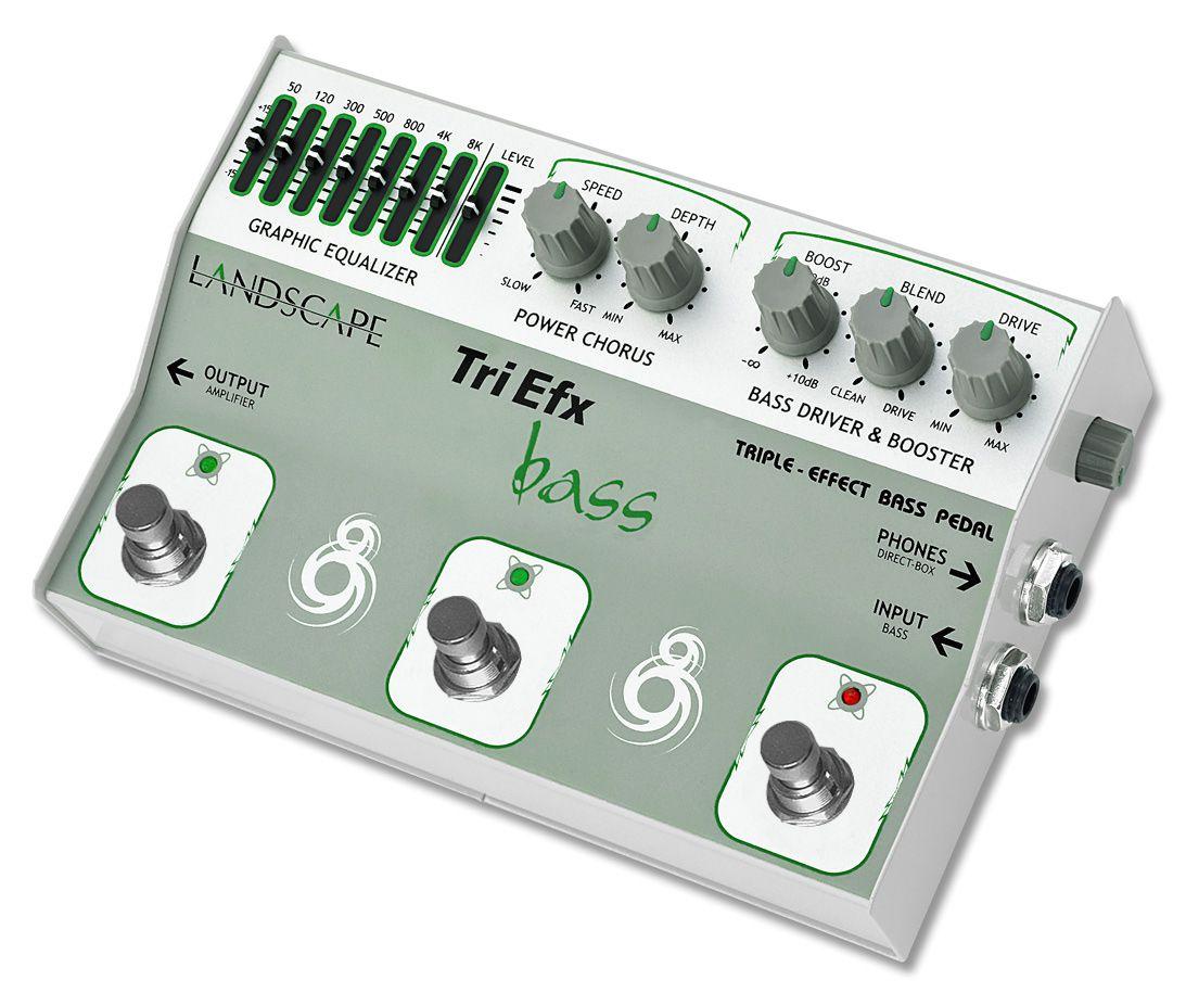 Pedal Landscape Triefx Bass - Multiefeito para Baixo
