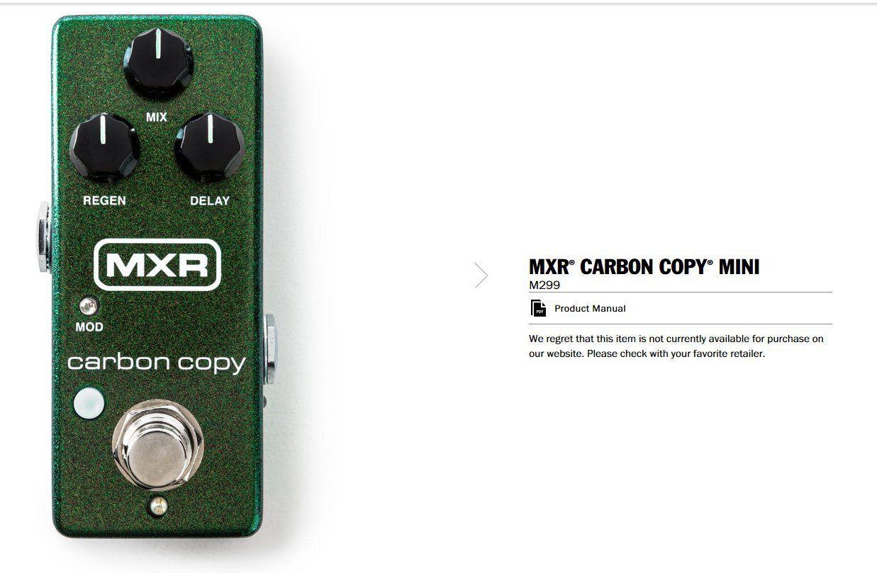 Pedal MXR Carbon Copy Mini '