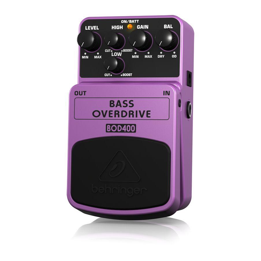 Pedal Para Contrabaixo Behringer Bod400 Bass Overdrive