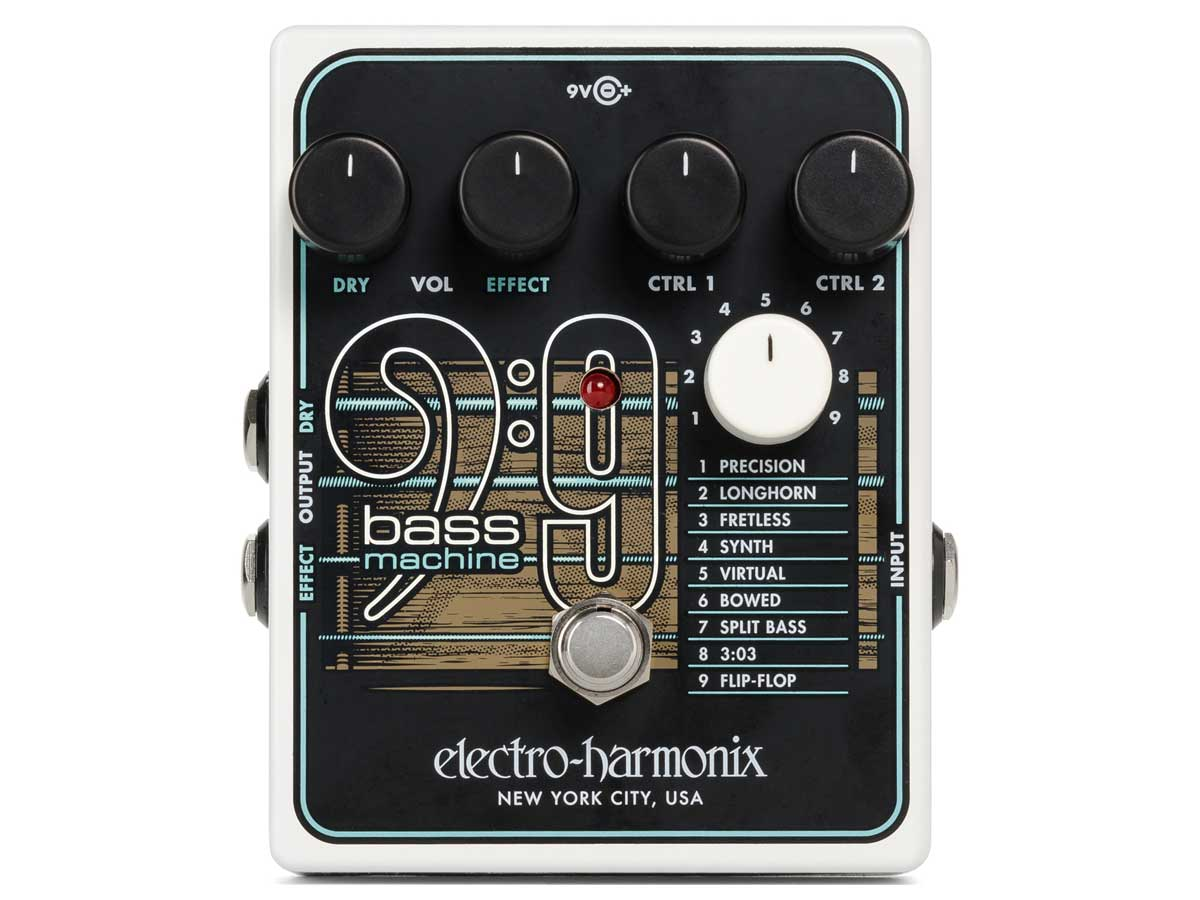 Pedal Simulador de Baixo Electro Harmonix Bass9 Machine
