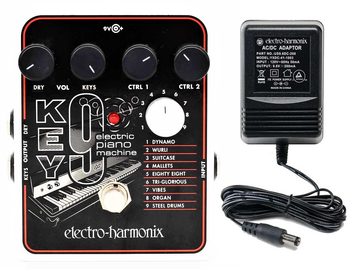 Pedal Simulador de Piano Elétrico Electro Harmonix Key9 Eletric Piano Machine