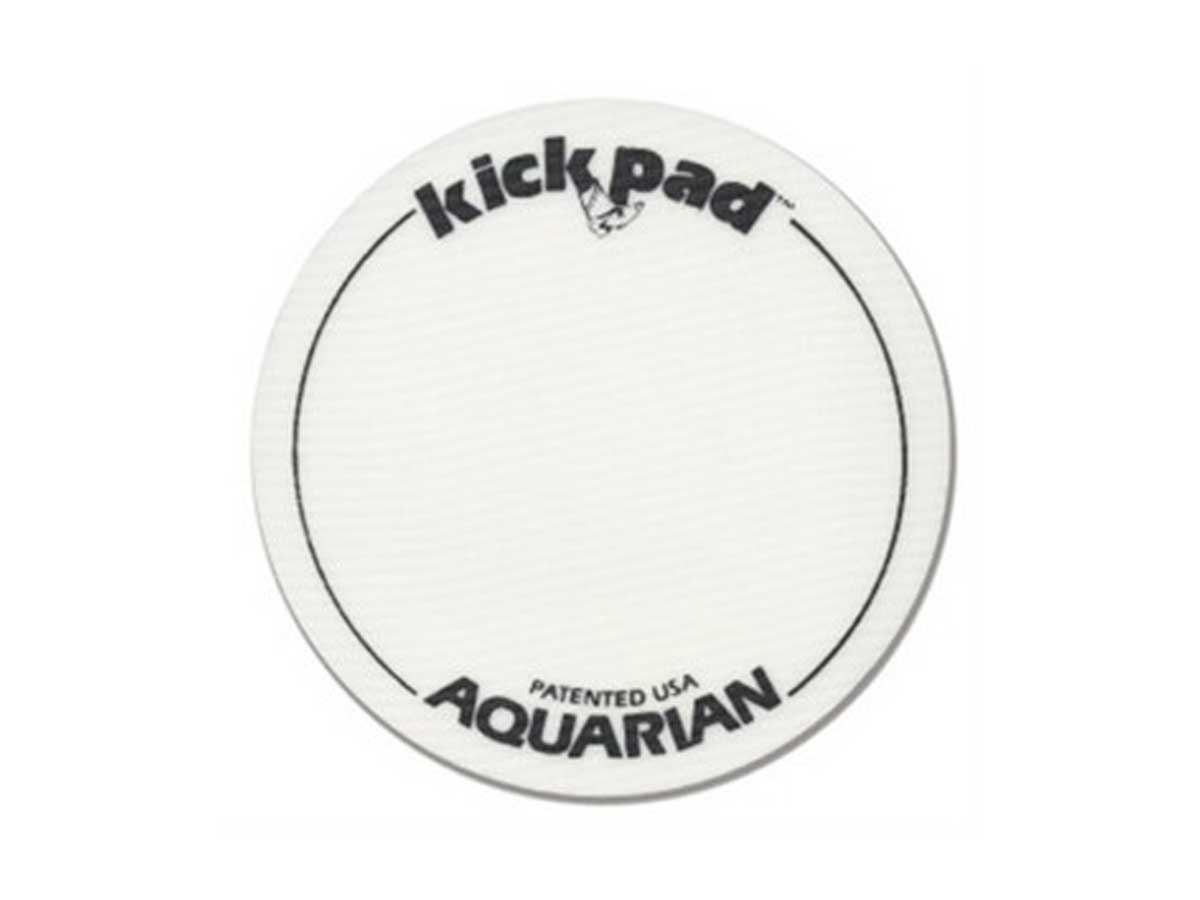 "Pele Aquarian de Bumbo 22"" Force Clear com Anel Abafador e Kick Pad"