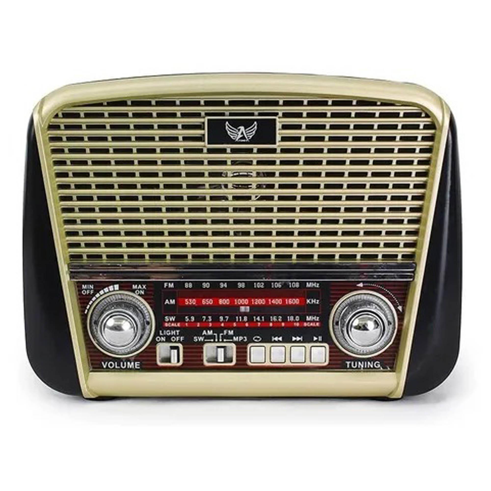 Rádio AM/FM Retrô Bluetooth Pendrive J-107