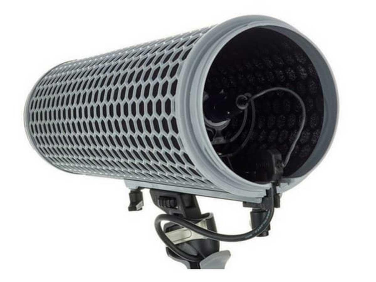Sistema de Proteção para Microfone contra Choque e Vento Rode Blimp