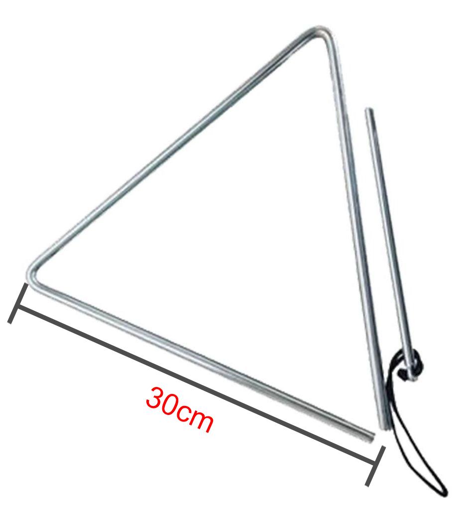 Triângulo Cromado 30cm X 10mm Forró