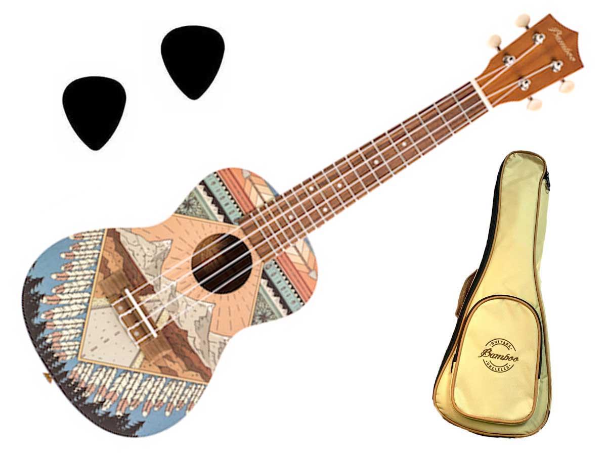 Ukulele Bamboo Concert New Generation BU-23