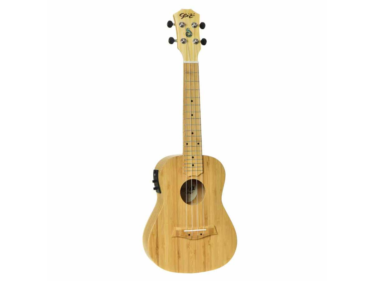 Ukulele Seizi Bali Concert Elétrico Solid Bamboo
