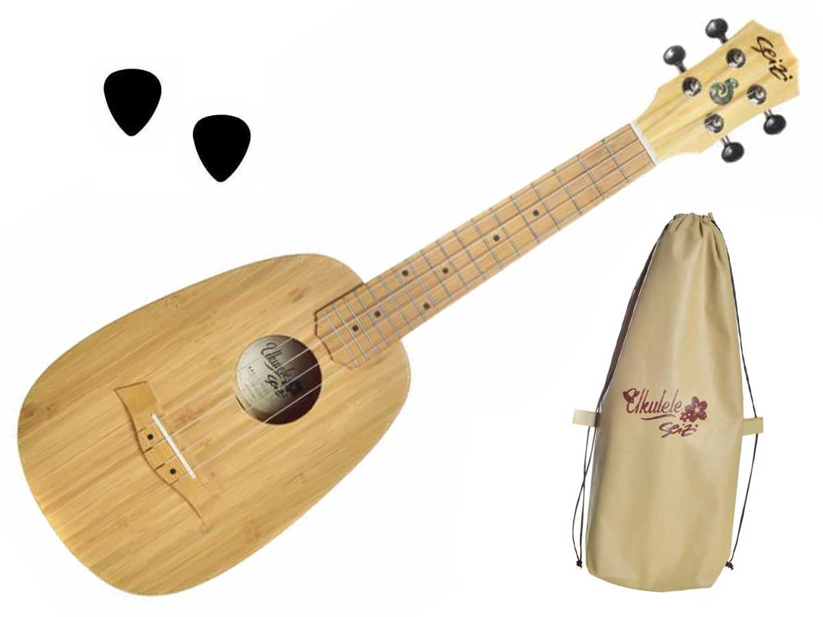 Ukulele Seizi Bali Pineapple Concert Acústico Solid Bamboo