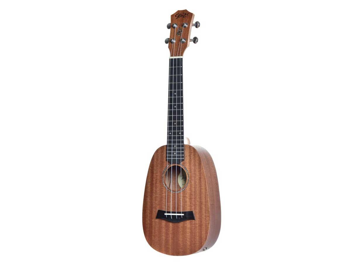 Ukulele Seizi Bali Pineapple Concert Elétrico Sapele