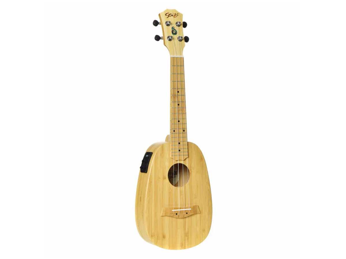 Ukulele Seizi Bali Pineapple Concert Elétrico Solid Bamboo