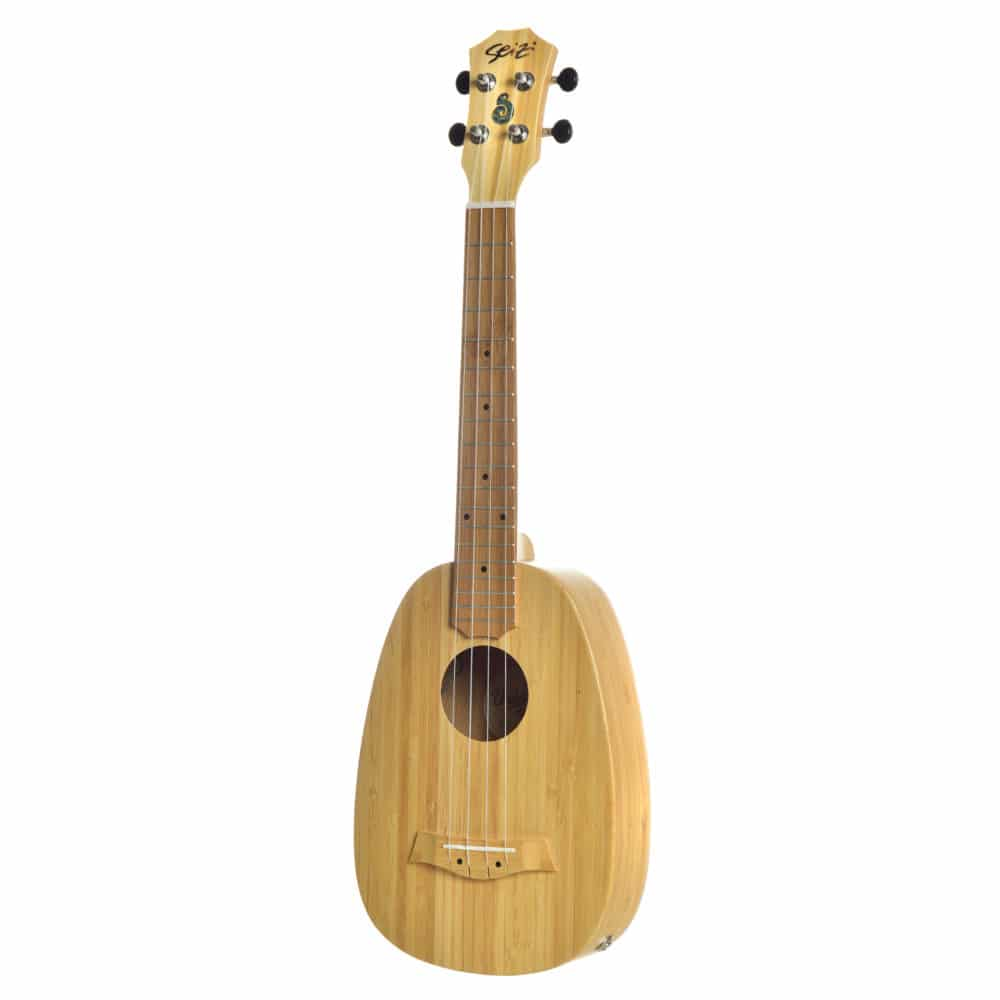 Ukulele Seizi Bali Pineapple Tenor Elétrico Solid Bamboo