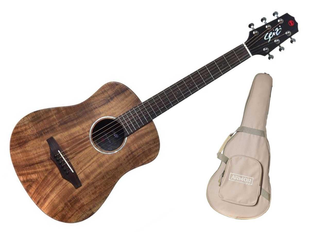 Violão Aço Seizi Supreme Baby Kaiju Folk Eletroacústico com Bag - KOA